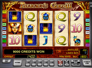 Pharaohs Gold III в казино без СМС