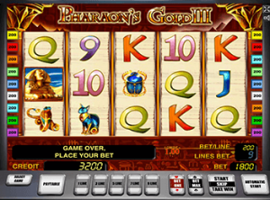 Демо Pharaohs Gold III в казино