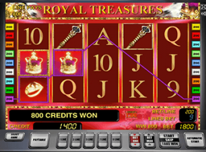 Бонусы Вулкан в автомате Royal Treasures